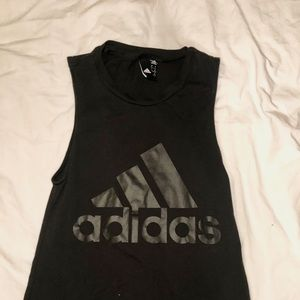 Adidas Black Muscle Shirt